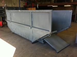 10m3 Skip Bin - Unpainted with Door
