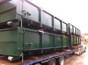 12m3 Hook Lift Bins - Loaded for Delivery