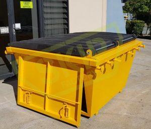 2m3 Lockable Skip Bin Yellow - Skip Factory