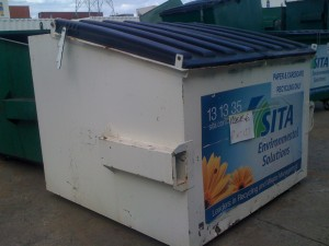 3m3 Front Lift Bin - with Sticker