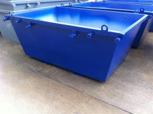 3m3 Skip Bin - with Fork Tunnels and Lifting Eyes