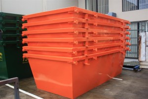 4m3 Skip Bins - Painted and Stacked