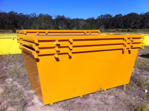 5m3 Skip Bins - Painted, Stacked and Delivered