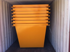 5m3 Skip Bins - Painted and Loaded