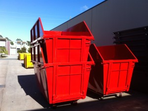 8m3 Skip Bins - Painted with Hungry Boards and Door