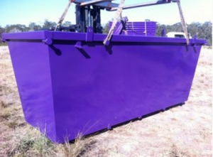 6m3 Skip Bins - Being Loaded