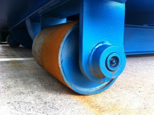 Hook Lift Bin - Greasable & Removable Roller Pins