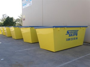 5m3 Skip Bin - Painted and Stenciled in Company Colours
