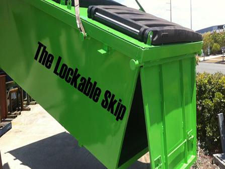 lockable skip bin