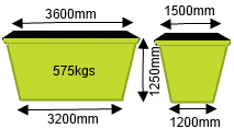 6m3 Skip Bin