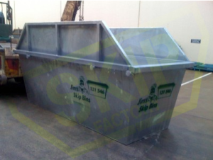 9m3 Skip Bin - Unpainted with Hungry Boards