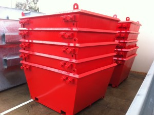 3m3 Skip Bins - with Forklift Tunnels