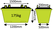 0.75m3 Crane Bin - Skip Factory.