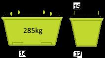 2m3 Crane Bin - Skip Factory.