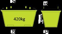 4m3 Crane Bin - Skip Factory.