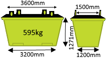 6m3 Crane Bin - Skip Factory.